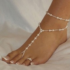 Women's Peep Toe With Pearl Chain