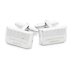 Personalized With Gift Box Stainless Steel Cufflinks