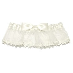 Charming Organza With Bowknot Wedding Garter Skirt