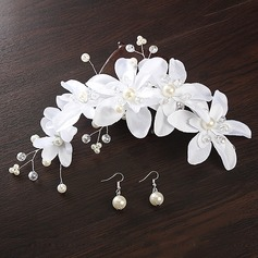 Glamourous Silk Flower Headbands (Set of 2)