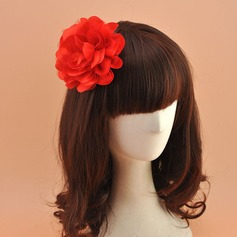Ladies' Beautiful Organza With Silk Flower Fascinators