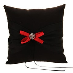Simple Ring Pillow in Satin/Polyester With Bow