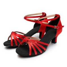 Women's Satin Sandals With Hollow-out Dance Shoes