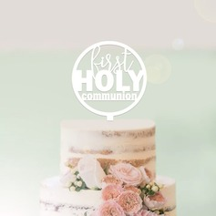 First Holy Communion Acrylic/Wood Cake Topper