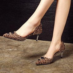 Women's Suede Leatherette Stiletto Heel Pumps Closed Toe With Others shoes