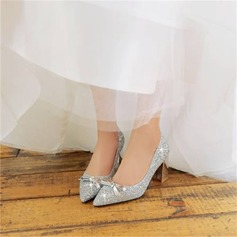 Women's Sparkling Glitter Chunky Heel Platform With Sequin shoes