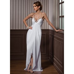 Sheath/Column Sweetheart Asymmetrical Chiffon Evening Dress With Beading