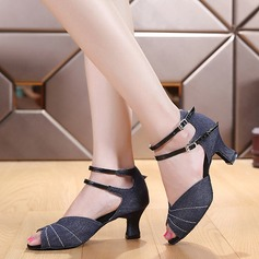 Women's Canvas Heels Latin Dance Shoes