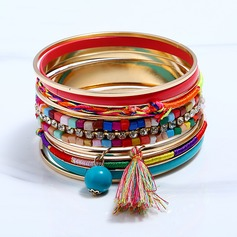 Fashional Alloy Rhinestones With Tassels Rhinestone Ladies' Fashion Bracelets (Set of 9)