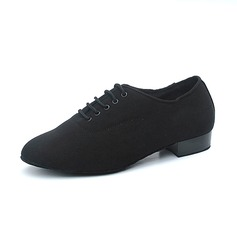 Men's Canvas Flats Modern Practice Dance Shoes