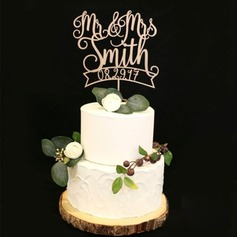 Mr & Mrs Wood Kake Topper
