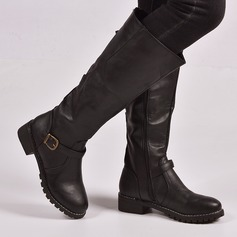 Women's PU Low Heel Boots With Zipper shoes