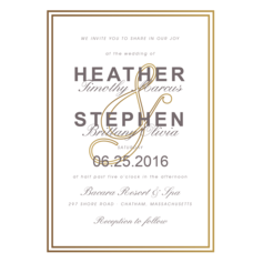 Exquisitely Elegance Wedding Cards