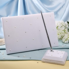 """Welcome to our wedding"" Rhinestones Guestbook & Pen Set"