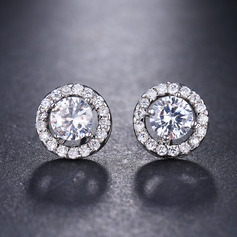 Ladies' Classic Zircon Earrings For Bride/For Bridesmaid/For Mother (011234519)