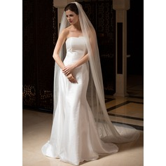Two-tier Cathedral Bridal Veils With Cut Edge (006036027)