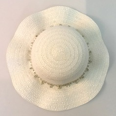 Child's Lovely Rattan Straw Floppy Hat/Straw Hat
