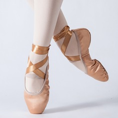 Women's Satin Flats Ballet Dance Shoes