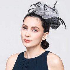 Ladies' Vintage Spring/Summer Cambric With Feather Fascinators