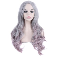 Wavy Synthetic Hair Lace Front Wigs 280g