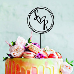 Personalized Mr. & Mrs./Wreath Acrylic/Wood Cake Topper