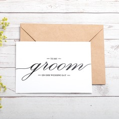 Groom Gifts - Modern Card Paper Wedding Day Card