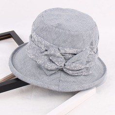 Ladies' Cotton With Bowknot Floppy Hat