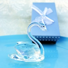 Crystal Swan Wedding Favor