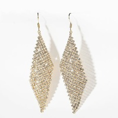 Ladies' Classic Gold Plated Crystal Earrings For Bride/For Bridesmaid/For Friends