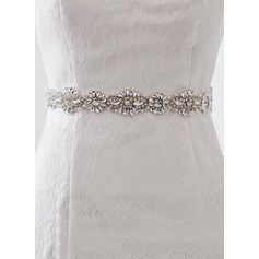Elegant Satin Sash With Rhinestones (015080836)