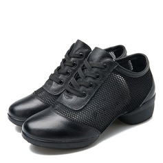 Women's Leatherette Mesh Sneakers Modern Sneakers Practice Dance Shoes