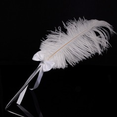 Elegant Rhinestones/Bow/Feather Pen Set