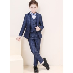 Boys 5 Pieces Elegant Ring Bearer Suits /Page Boy Suits With Jacket Shirt Vest Pants Bow Tie (287204965)
