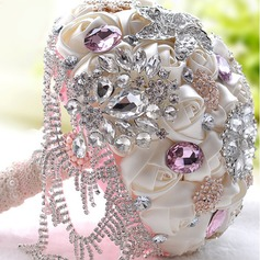 Fascinating Satin/Rhinestone Bridal Bouquets