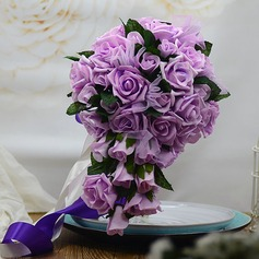 Attractive Hand-tied Foam/Poly Ethylene Bridal Bouquets