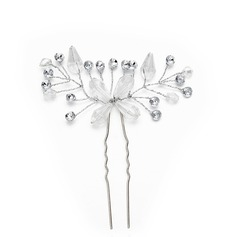 Ladies Gorgeous Crystal/Imitation Pearls Hairpins With Venetian Pearl/Crystal (Sold in single piece)