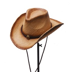 Men's Glamourous/Elegant/Simple Raffia Straw Cowboy Hat