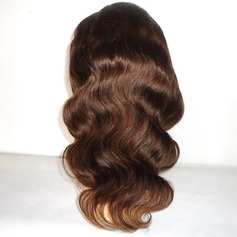 4A Non remy Body Wavy Human Hair Full Lace Cap Wigs