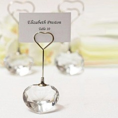 """Choice Crystal Collection"" heart design place card holders"
