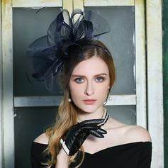 Dames Mode/Speciaal/Elegant Netto garen met Feather Baret van Hat/Kentucky Derby Hats