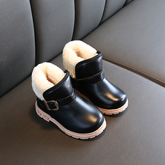Girl's Snow Boots Ankle Boots Leatherette Boots With Buckle