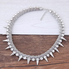 Stylish Alloy Rhinestones Women's Fashion Necklace (Sold in a single piece)