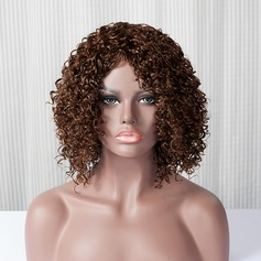 Curly Mid-Length Capless Synthetic Wigs