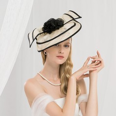 Ladies' Fashion/Simple/Romantic/Vintage Cambric With Flower Fascinators/Kentucky Derby Hats/Tea Party Hats