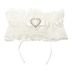 Gorgeous Lace With Rhinestone Wedding Garters
