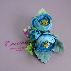 Refined Satin Boutonniere -