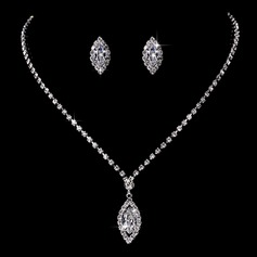 Gorgeous Copper With Rhinestone/Cubic Zirconia Ladies' Jewelry Sets