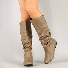 Women's Leatherette Flat Heel Boots Knee High Boots With Others shoes (088175642)
