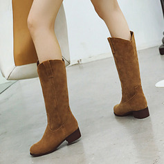 Women's Leatherette Chunky Heel Mid-Calf Boots shoes