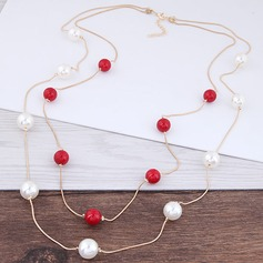 Unique Alloy Imitation Pearls Women's Fashion Necklace (Sold in a single piece)